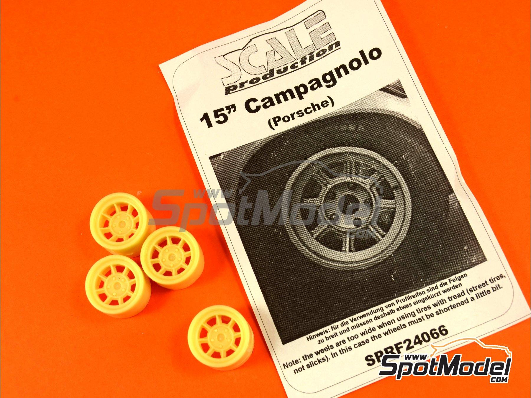 Image 1: Campagnolo de 15 pulgadas para vehículos Porsche clásicos | Llantas en escala1/24 fabricado por Scale Production (ref.SPRF24066)