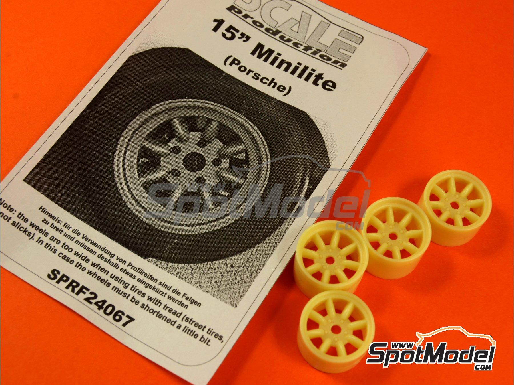 Image 1: Minilite de 15 pulgadas para Porsche | Llantas en escala1/24 fabricado por Scale Production (ref.SPRF24067)