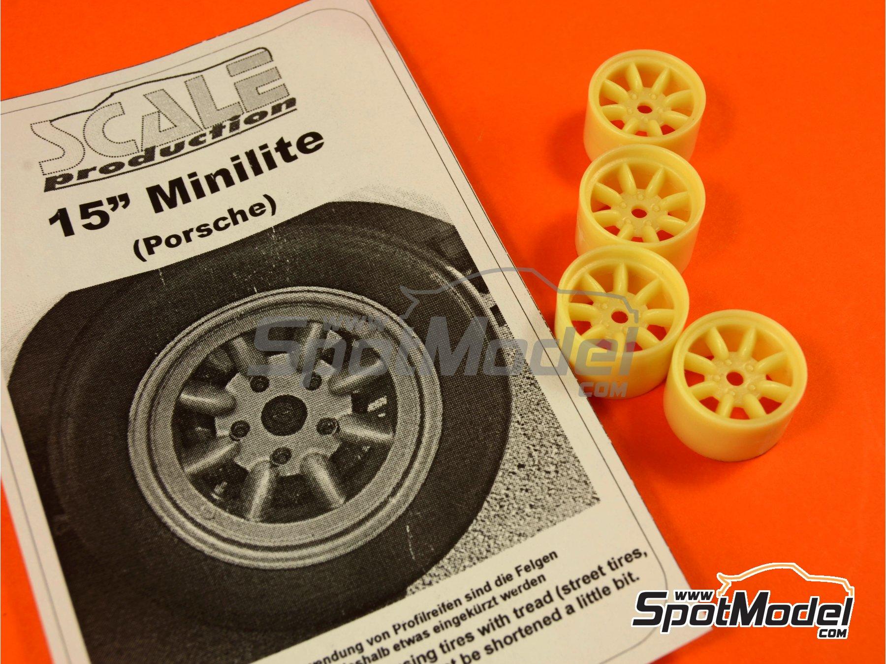 Image 2: Minilite de 15 pulgadas para Porsche | Llantas en escala1/24 fabricado por Scale Production (ref.SPRF24067)