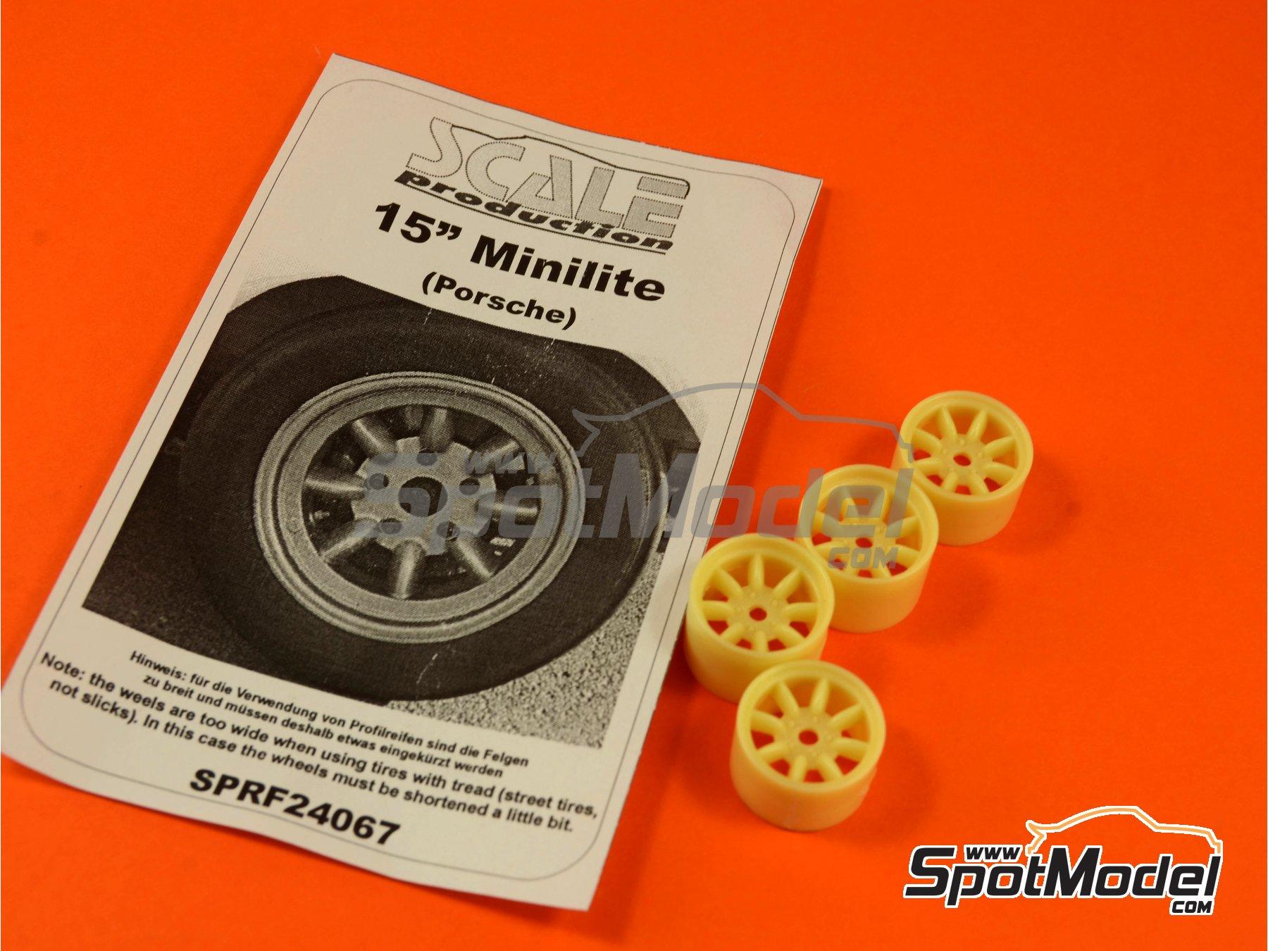 Image 5: Minilite de 15 pulgadas para Porsche | Llantas en escala1/24 fabricado por Scale Production (ref.SPRF24067)