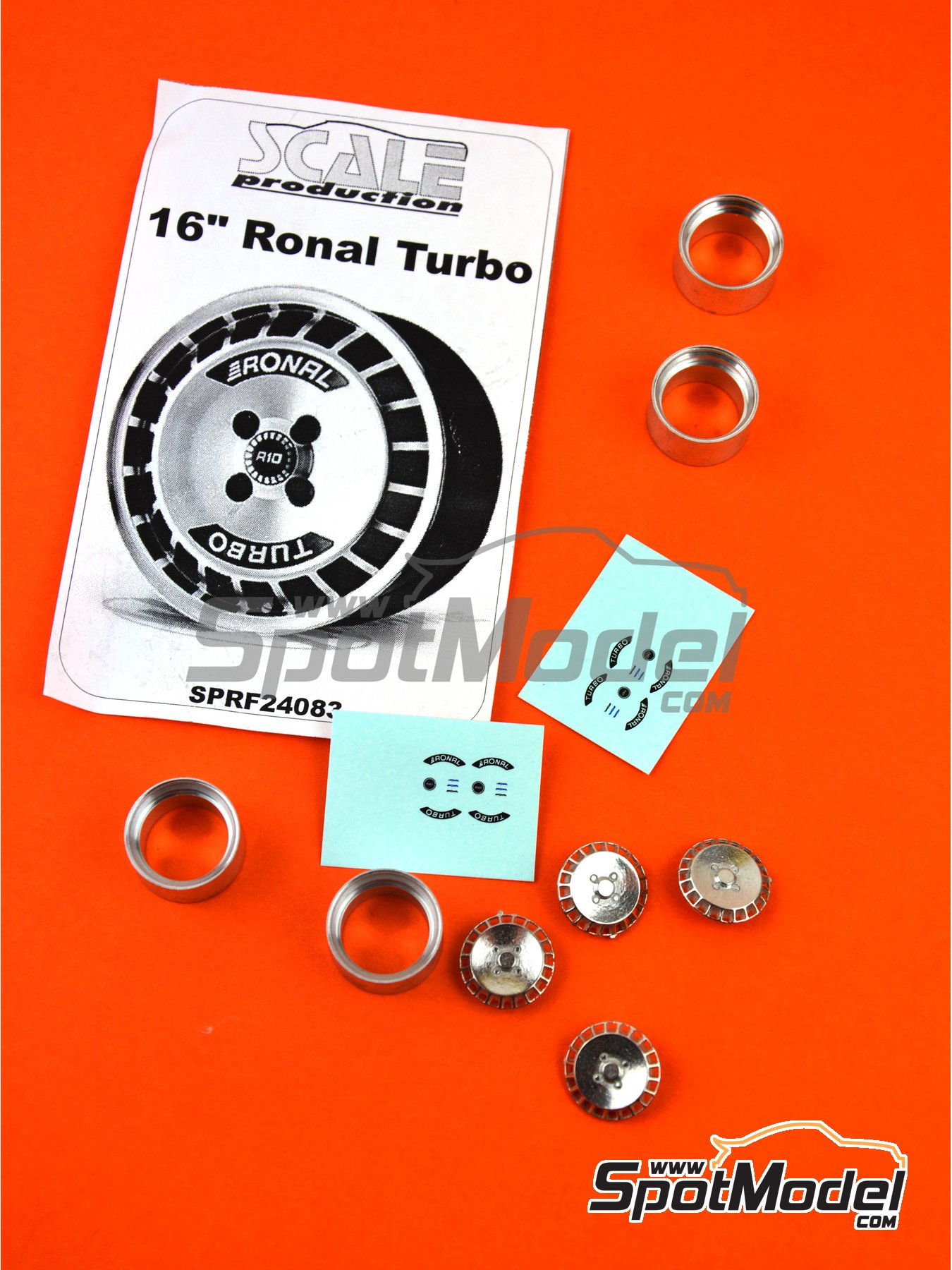 Ronal Turbo 16 inches | Rims in 1/24 scale manufactured by Scale Production (ref. SPRF24083) image