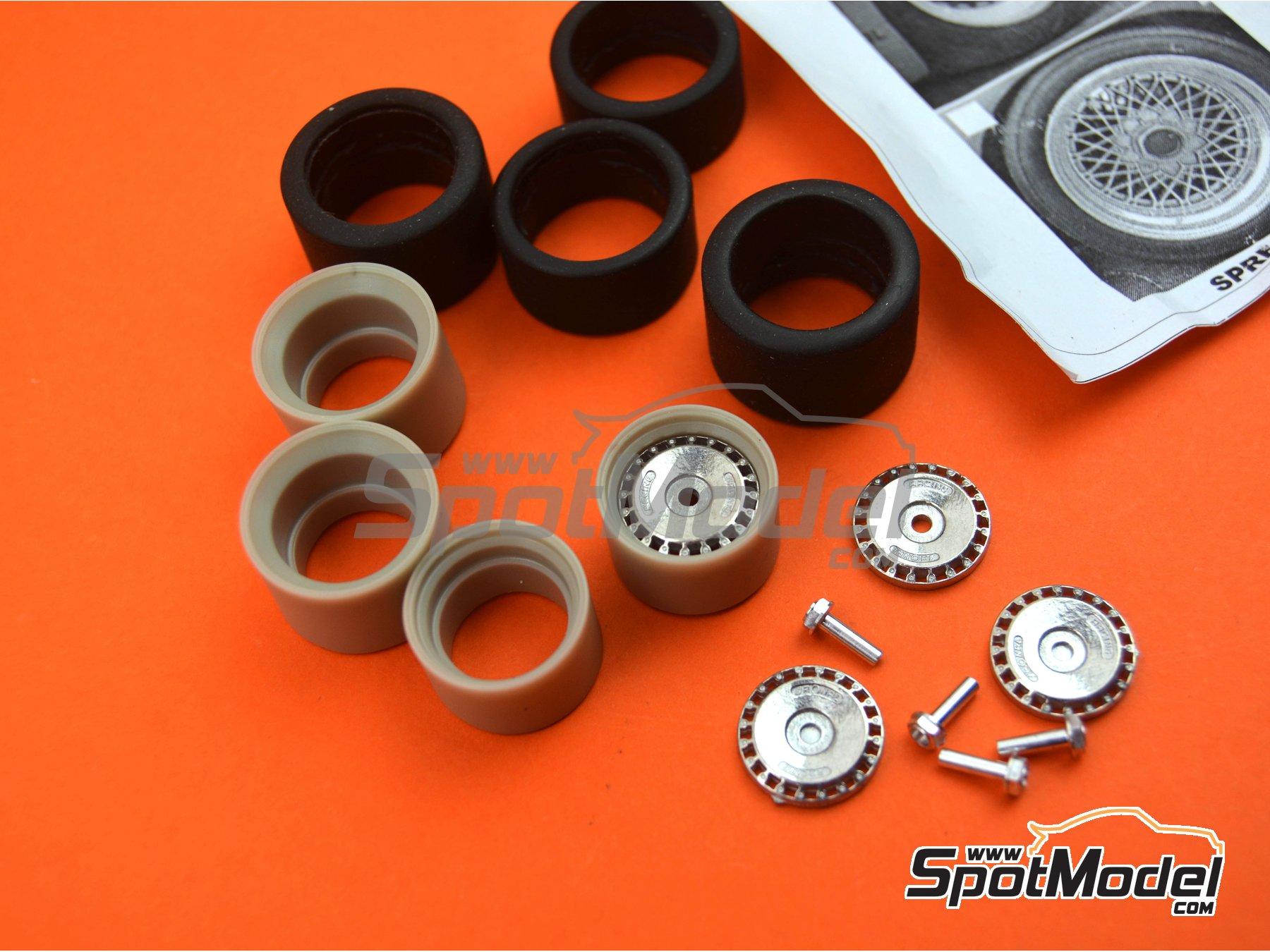 Image 2: Llanta Ronal de 16 pulgadas con neumáticos lisos de 19 pulgadas | Set de llantas y neumáticos en escala1/24 fabricado por Scale Production (ref.SPRF24092-RONAL-TYRE)