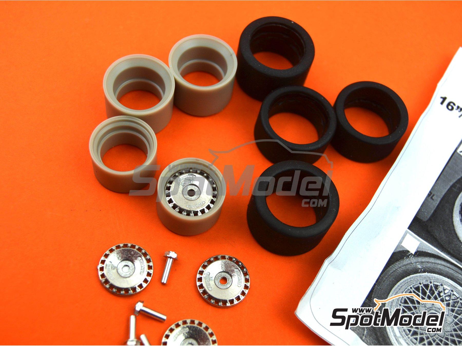 Image 3: Llanta Ronal de 16 pulgadas con neumáticos lisos de 19 pulgadas | Set de llantas y neumáticos en escala1/24 fabricado por Scale Production (ref.SPRF24092-RONAL-TYRE)