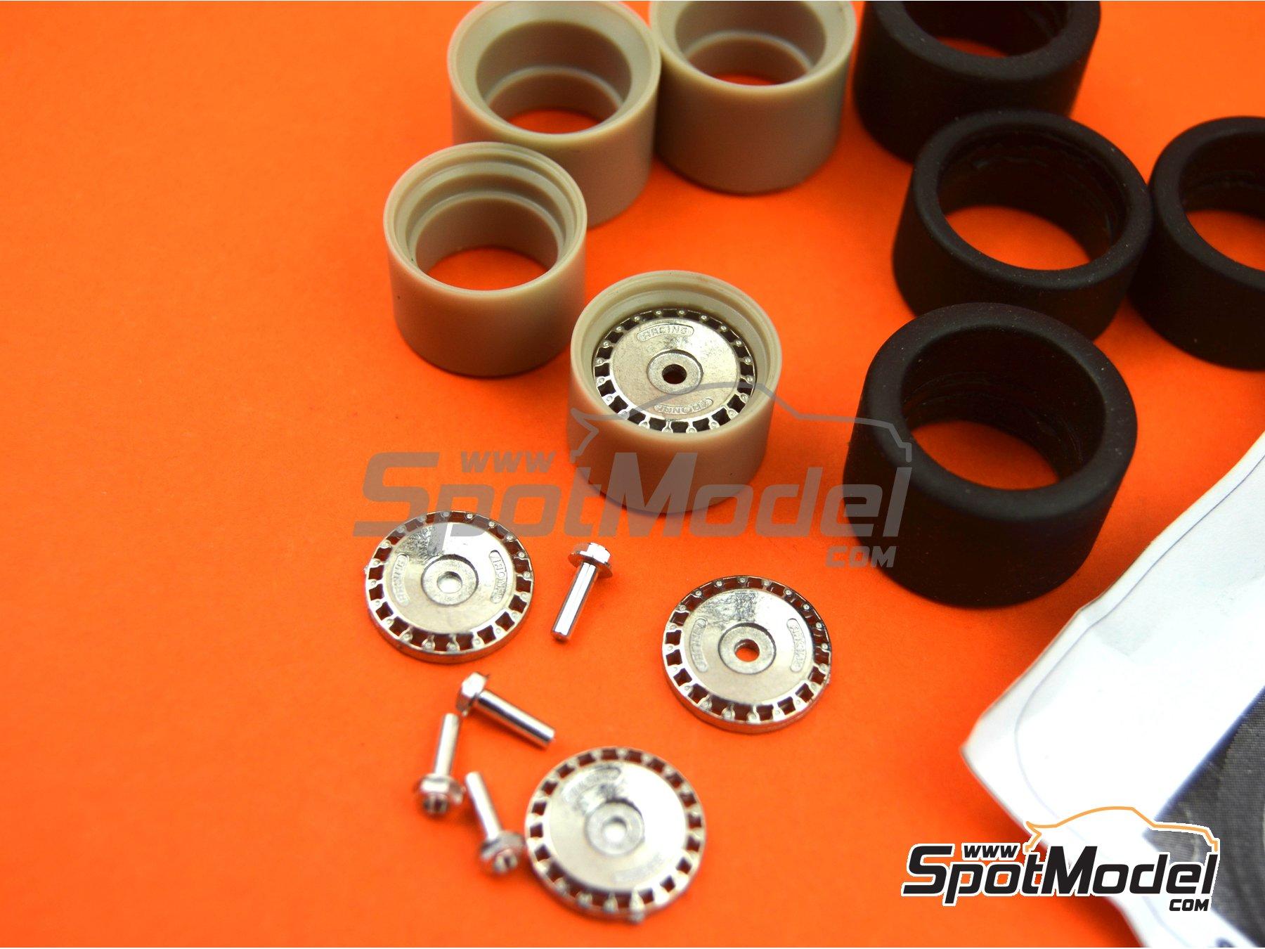 Image 4: Llanta Ronal de 16 pulgadas con neumáticos lisos de 19 pulgadas | Set de llantas y neumáticos en escala1/24 fabricado por Scale Production (ref.SPRF24092-RONAL-TYRE)