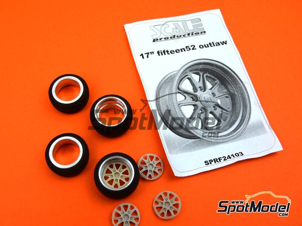 Image 4: 17 inches fifteen52 outlaw rim with Toyo stretch wall tyres | Rims and tyres set in 1/24 scale manufactured by Scale Production (ref.SPRF24103-TOYO)