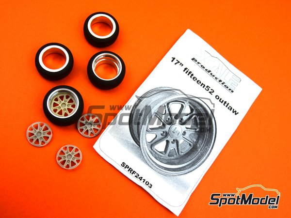 Image 5: 17 inches fifteen52 outlaw rim with Toyo stretch wall tyres | Rims and tyres set in 1/24 scale manufactured by Scale Production (ref.SPRF24103-TOYO)