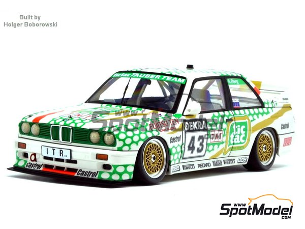 Image 3: 17 inches BBS E50 DTM | Rims and tyres set in 1/24 scale manufactured by Scale Production (ref. SPRF24107-1)