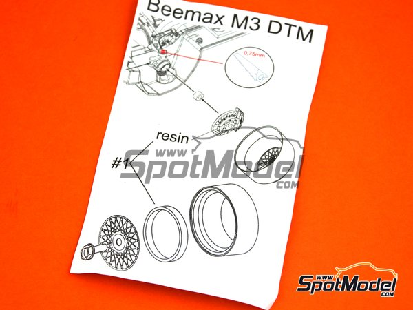 Image 5: 17 inches BBS E50 DTM | Rims and tyres set in 1/24 scale manufactured by Scale Production (ref. SPRF24107-1)