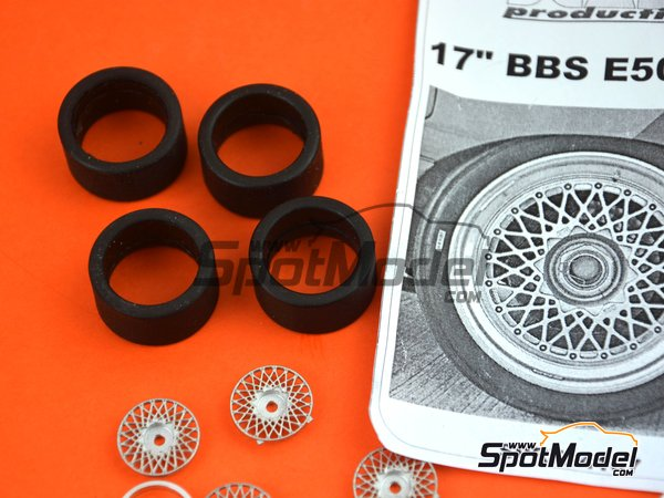 Image 8: 17 inches BBS E50 DTM | Rims and tyres set in 1/24 scale manufactured by Scale Production (ref. SPRF24107-1)