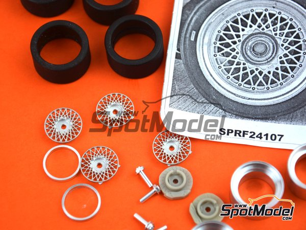 Image 9: 17 inches BBS E50 DTM | Rims and tyres set in 1/24 scale manufactured by Scale Production (ref. SPRF24107-1)