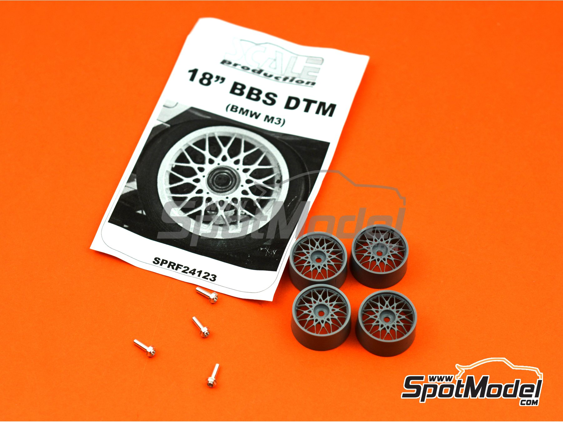 Image 4: BBS DTM 18 inches | Rims in 1/24 scale manufactured by Scale Production (ref. SPRF24123)