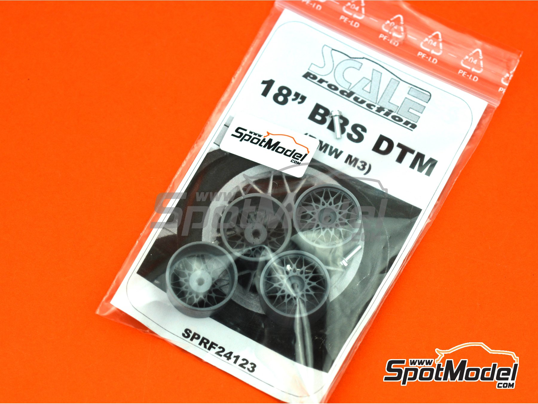 Image 10: BBS DTM 18 inches | Rims in 1/24 scale manufactured by Scale Production (ref. SPRF24123)