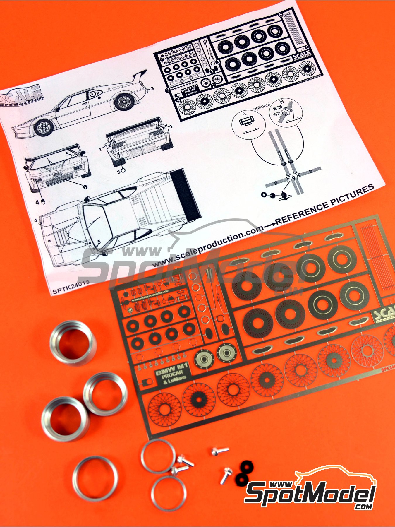 BMW M1 | Detail up set in 1/24 scale manufactured by Scale Production (ref.SPTK24013) image