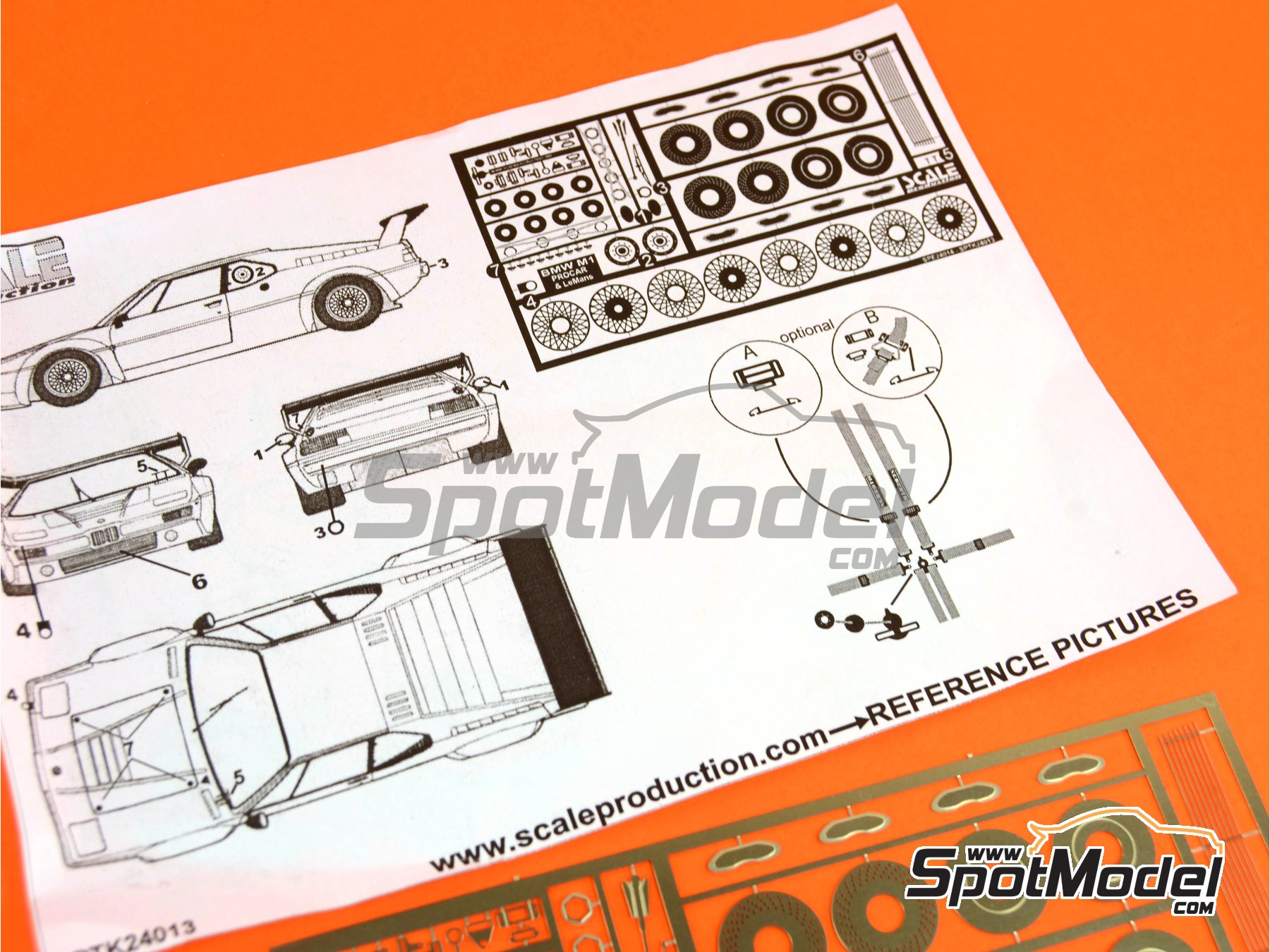 Image 11: BMW M1 | Detail up set in 1/24 scale manufactured by Scale Production (ref.SPTK24013)