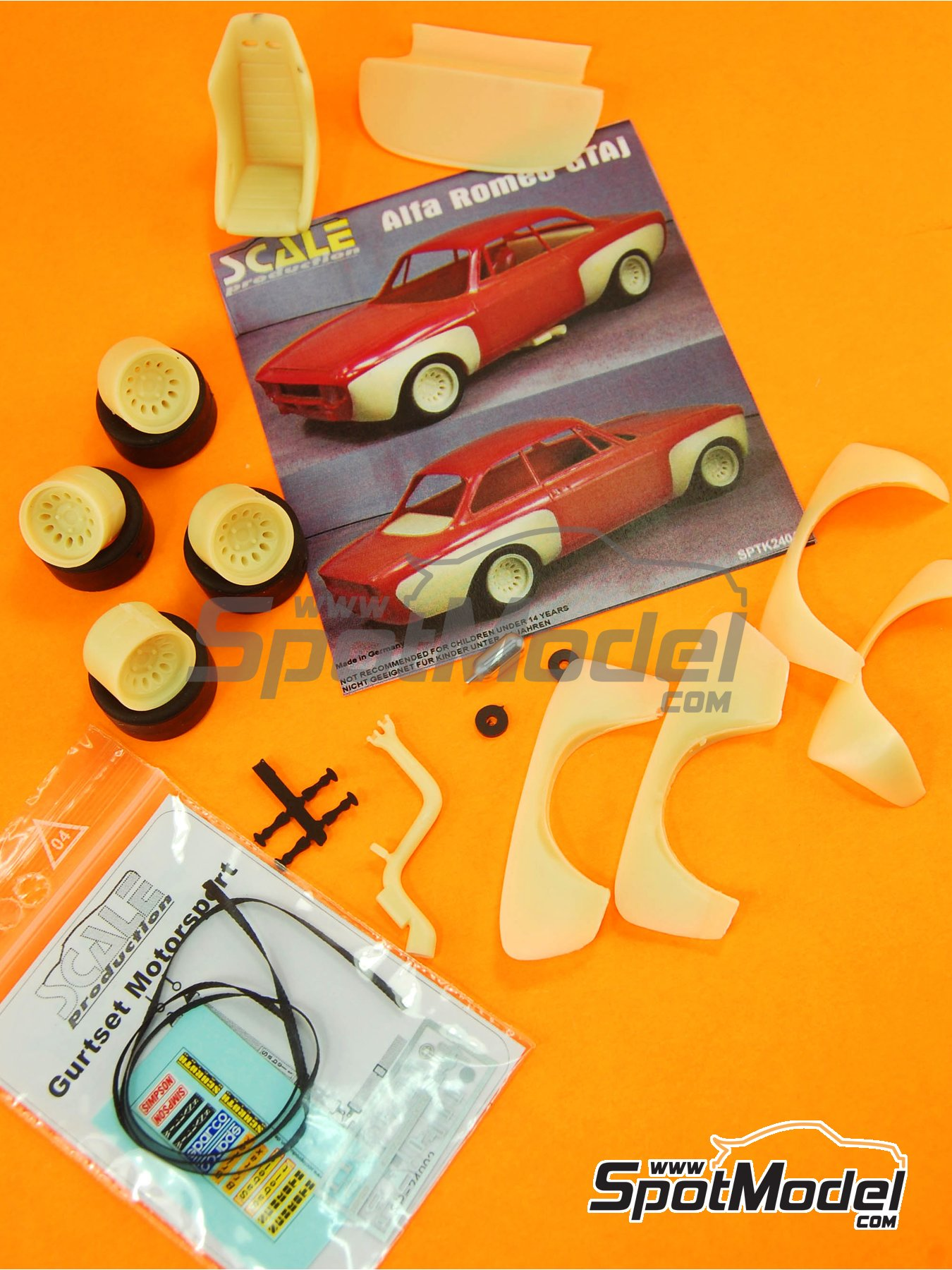 Alfa Romeo GTAj   Transkit en escala1/24 fabricado por Scale Production (ref.SPTK24046) image