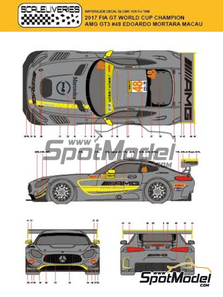 Mercedes AMG GT3 Driving Academy - Macau FIA GT World Cup Championship 2017 | Decoración en escala1/24 fabricado por Scaleliveries (ref.SLC005) image