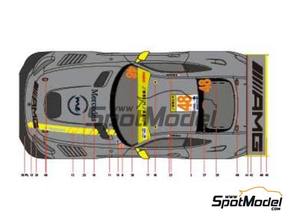 Image 1: Mercedes AMG GT3 Driving Academy - Macau FIA GT World Cup Championship 2017 | Decoración en escala1/24 fabricado por Scaleliveries (ref.SLC005)