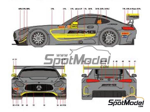 Image 2: Mercedes AMG GT3 Driving Academy - Macau FIA GT World Cup Championship 2017 | Decoración en escala1/24 fabricado por Scaleliveries (ref.SLC005)