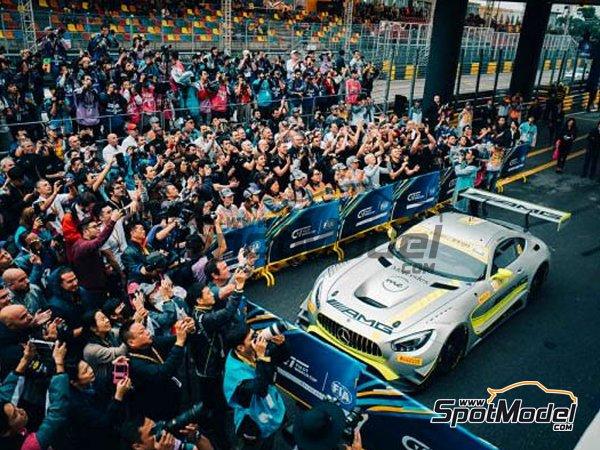 Image 4: Mercedes AMG GT3 Driving Academy - Macau FIA GT World Cup Championship 2017 | Decoración en escala1/24 fabricado por Scaleliveries (ref.SLC005)
