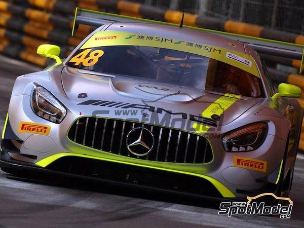 Image 5: Mercedes AMG GT3 Driving Academy - Macau FIA GT World Cup Championship 2017 | Decoración en escala1/24 fabricado por Scaleliveries (ref.SLC005)