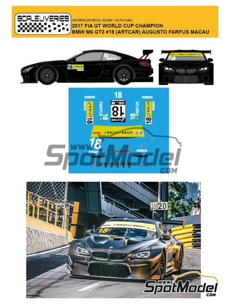 BMW M6 GT3 BMW Team Schnitzer Art Car - Macau FIA GT World Cup Championship 2017 | Marking / livery in 1/24 scale manufactured by Scaleliveries (ref.SLC006) image