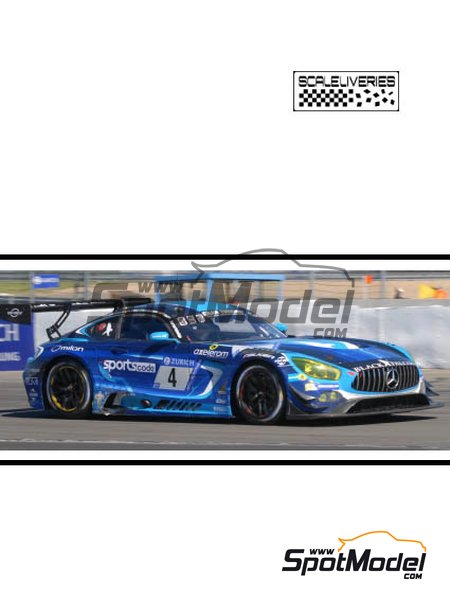 Mercedes AMG GT3 - 24 Hours Nürburgring 2017 | Marking / livery in 1/24 scale manufactured by Scaleliveries (ref. SLC008) image
