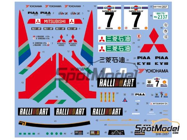 Image 2: Mitsubishi Galant VR-4 Ralli Art - Rally Safari 1992 | Decoración en escala1/24 fabricado por Shunko Models (ref.SHK-D057)