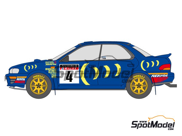 Image 1: Subaru Impreza WRC 555 - Acropolis rally, Great Britain RAC Rally 1994 and 1995 | Marking / livery in 1/24 scale manufactured by Shunko Models (ref.SHK-D112)