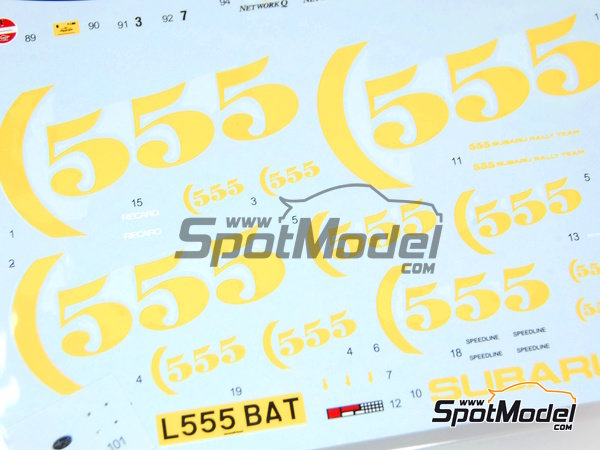 Image 7: Subaru Impreza WRC 555 - Acropolis rally, Great Britain RAC Rally 1994 and 1995 | Marking / livery in 1/24 scale manufactured by Shunko Models (ref.SHK-D112)