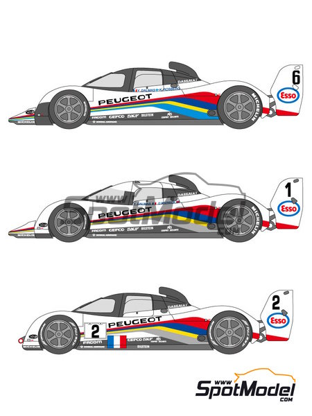 Peugeot 905 Evo1 Esso - 24 Hours Le Mans 1991, 1992 and 1993 | Marking / livery in 1/24 scale manufactured by Shunko Models (ref. SHK-D120) image