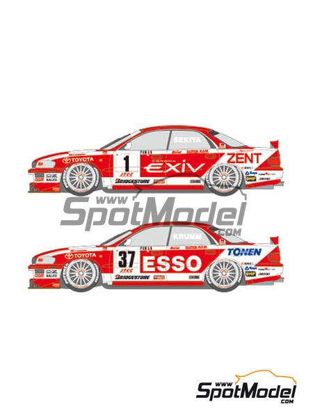 Toyota Tom's Esso Exiv - Japan Touring Car Championship (JTCC) 1995 | Marking / livery in 1/24 scale manufactured by Shunko Models (ref. SHK-D138) image