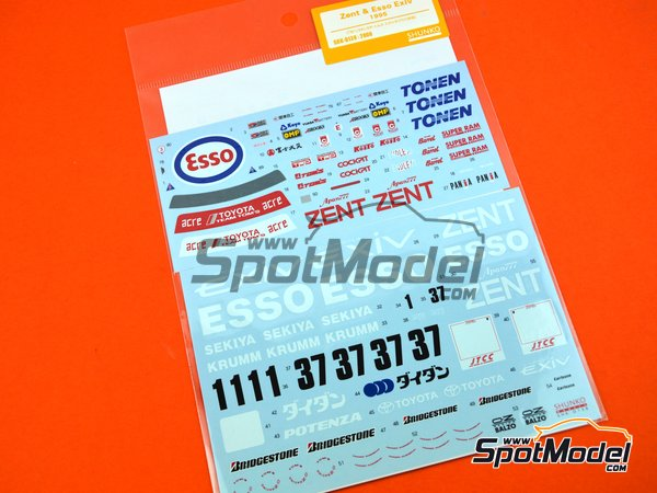 Image 5: Toyota Tom's Esso Exiv - Japan Touring Car Championship (JTCC) 1995 | Marking / livery in 1/24 scale manufactured by Shunko Models (ref. SHK-D138)