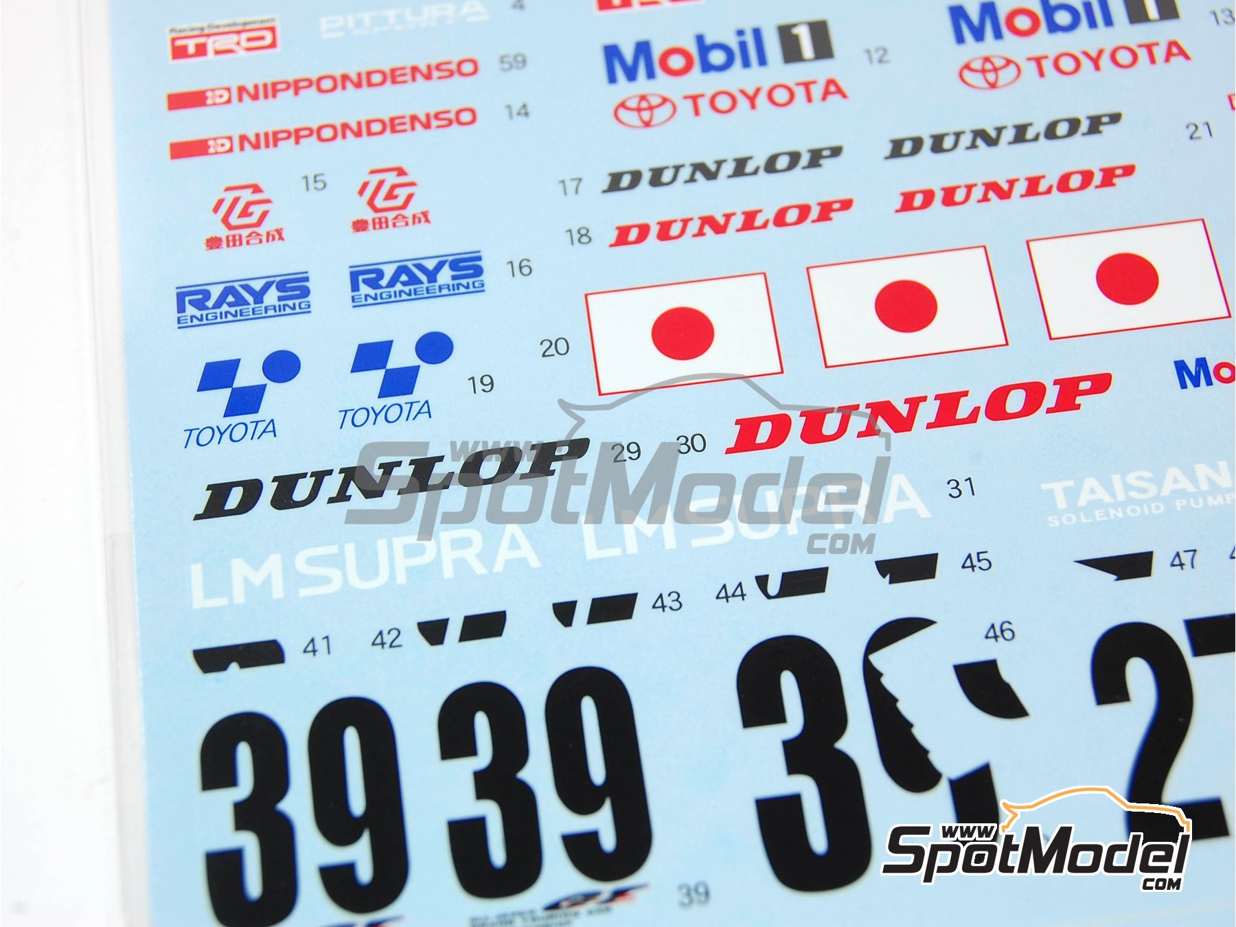 Image 4: Toyota Supra GT Aisin - 24 Hours Le Mans 1995 | Marking / livery in 1/24 scale manufactured by Shunko Models (ref. SHK-D161)
