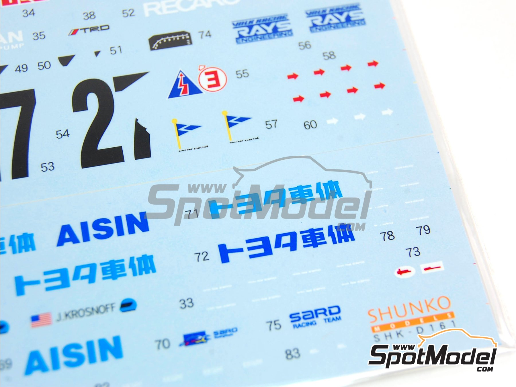 Image 6: Toyota Supra GT Aisin - 24 Hours Le Mans 1995 | Marking / livery in 1/24 scale manufactured by Shunko Models (ref. SHK-D161)