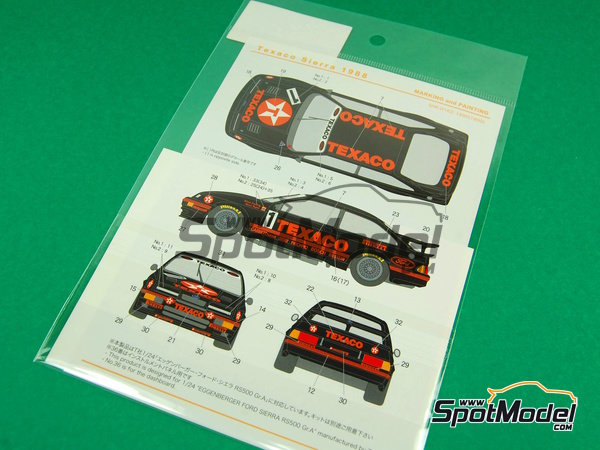 Image 3: Ford Sierra Eggenberger RS500 Group A Texaco - European Touring Car Championship ETCC 1988 | Marking / livery in 1/24 scale manufactured by Shunko Models (ref. SHK-D162)