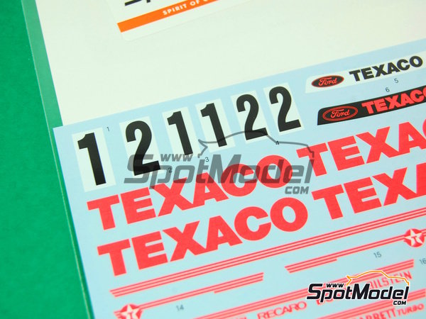 Image 5: Ford Sierra Eggenberger RS500 Group A Texaco - European Touring Car Championship ETCC 1988 | Marking / livery in 1/24 scale manufactured by Shunko Models (ref. SHK-D162)