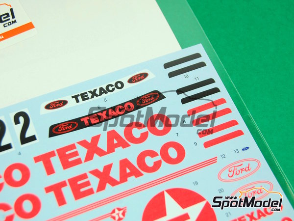 Image 6: Ford Sierra Eggenberger RS500 Group A Texaco - European Touring Car Championship ETCC 1988 | Marking / livery in 1/24 scale manufactured by Shunko Models (ref. SHK-D162)