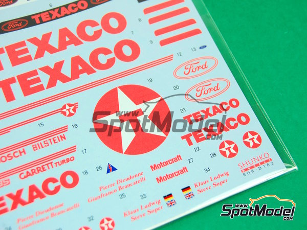 Image 7: Ford Sierra Eggenberger RS500 Group A Texaco - European Touring Car Championship ETCC 1988 | Marking / livery in 1/24 scale manufactured by Shunko Models (ref.SHK-D162)