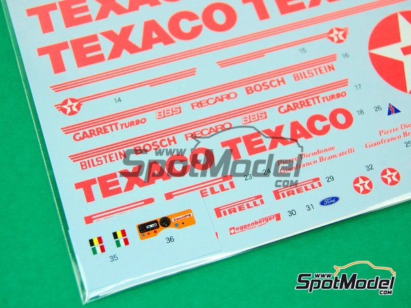 Image 8: Ford Sierra Eggenberger RS500 Group A Texaco - European Touring Car Championship ETCC 1988 | Marking / livery in 1/24 scale manufactured by Shunko Models (ref. SHK-D162)