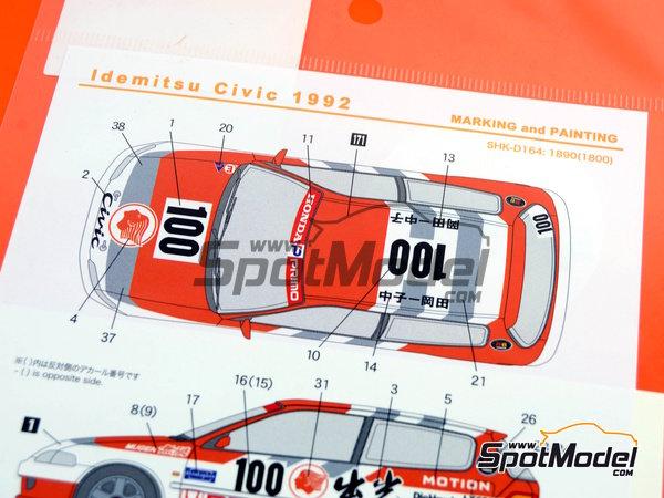 Image 1: Honda Civic Mugen Primo -  1992 | Decoración en escala1/24 fabricado por Shunko Models (ref.SHK-D164)