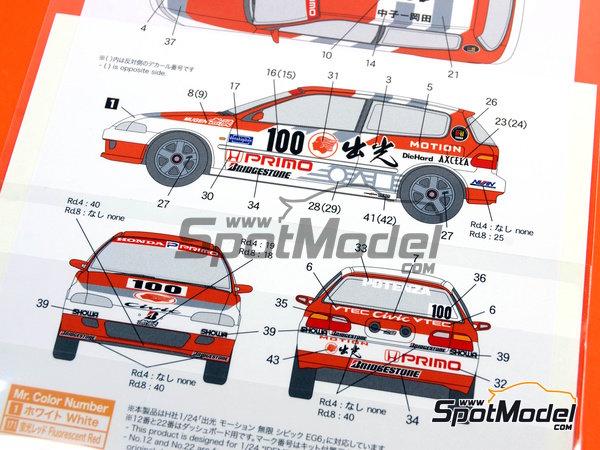 Image 2: Honda Civic Mugen Primo -  1992 | Decoración en escala1/24 fabricado por Shunko Models (ref.SHK-D164)