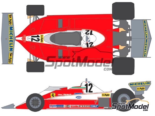Image 1: Ferrari 312T3 Fiat Agip - FIA Formula 1 World Championship 1978 | Marking / livery in 1/20 scale manufactured by Shunko Models (ref. SHK-D174)