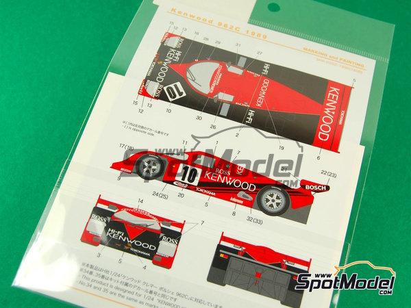 Image 6: Porsche 962C Kenwood - Copa GT de Japon JGTC 1989 | Decoración en escala1/24 fabricado por Shunko Models (ref.SHK-D202)