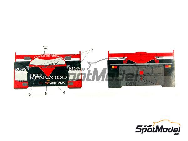 Image 9: Porsche 962C Kenwood - Copa GT de Japon JGTC 1989 | Decoración en escala1/24 fabricado por Shunko Models (ref.SHK-D202)