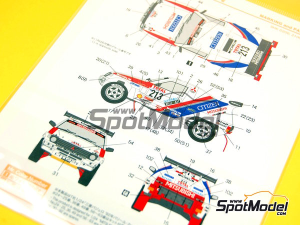 Image 7: Mitsubishi Pajero Citizen - Paris Le Cap 1992 | Marking / livery in 1/24 scale manufactured by Shunko Models (ref.SHK-D206)