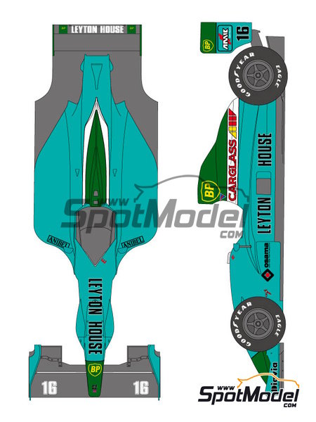 Leyton House Judd CG901 - FIA Formula 1 World Championship 1990 | Marking / livery in 1/20 scale manufactured by Shunko Models (ref. SHK-D211) image