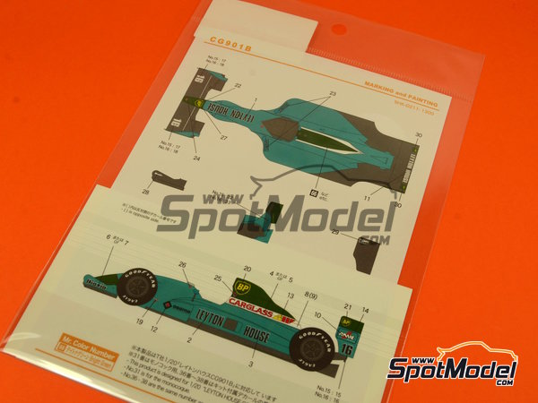Image 5: Leyton House Judd CG901 - FIA Formula 1 World Championship 1990 | Marking / livery in 1/20 scale manufactured by Shunko Models (ref. SHK-D211)