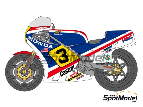 Image 1: Honda NS500 Castrol - Motorcycle World Championship 1983 | Marking / livery in 1/12 scale manufactured by Shunko Models (ref.SHK-D219)