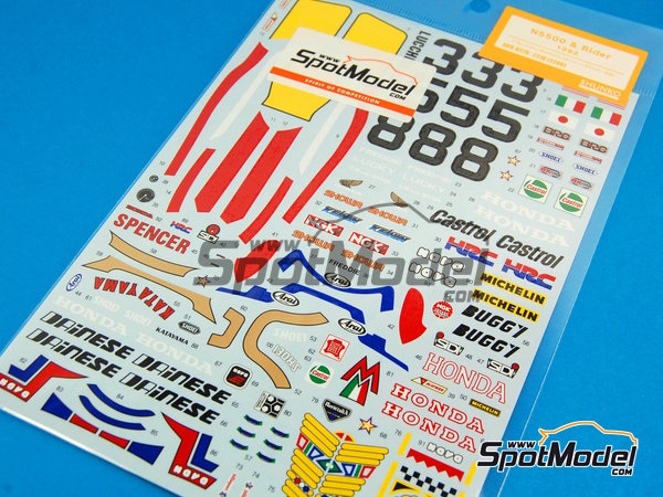 Image 6: Honda NS500 Castrol - Motorcycle World Championship 1983 | Marking / livery in 1/12 scale manufactured by Shunko Models (ref.SHK-D219)