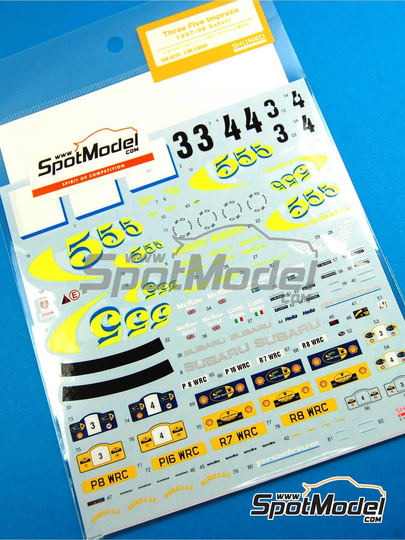 Subaru Impreza WRC 555 - Safari Rally 1997 and 1998 | Marking / livery in 1/24 scale manufactured by Shunko Models (ref. SHK-D225) image